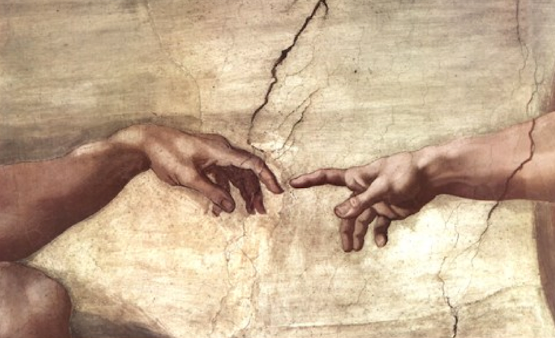 Michelangelo finger of God