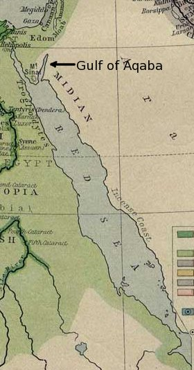 red Sea Map Gulf of Acaba