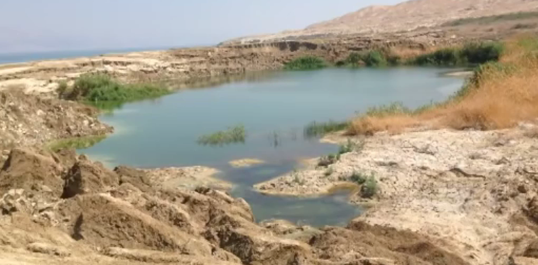 Sinkhole beside Dead Sea